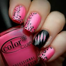 Nail Designs Cheetah 50 Beautiful Pink And Black Nail Designs 2017
