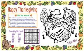thanksgiving placemat thanksgiving activity thanksgiving placemat daily party dish