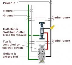 how to wire a switched outlet half outlet