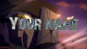 sony vegas pro anime mirai nikki free intro template youtube