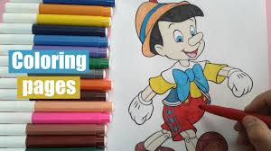disney cartoon characters color pinocchio speed coloring