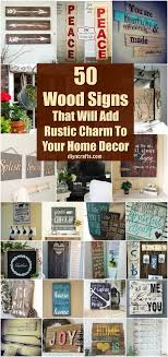 signs decor 50 wood signs that will add rustic charm to your home decor diy