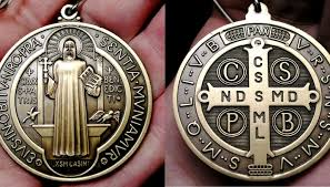 catholic medals st benedict medal with exorcism blessingst benedict medal with