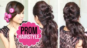 prom styles easy prom hairstyle half updo tutorial youtube
