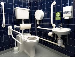 this is a modified bathroom for someone who might have a hard time