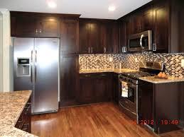 Alderwood Kitchen Cabinets by Walnut Wood Alpine Shaker Door Dark Cherry Kitchen Cabinets