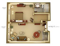 studio apartment in ranikhet 3d view ground floor idolza