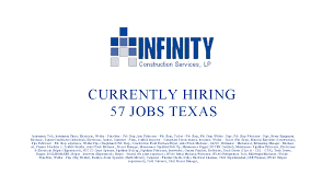 infinity construction services hiring 57 jobs tx clute