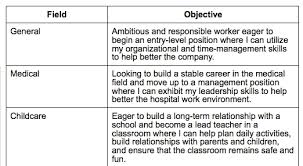 Examples Of Resume Objectives Example Of Objective In Resume Examples Of Resumes Resume Example