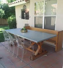 Zinc Table Top Ana White Spanish Cedar X Base Farmhouse Table With Zinc Top