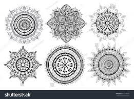 set indian ornaments stock vector 115744726