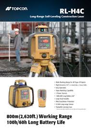 rl h4c long range self leveling construction laser topcon pdf