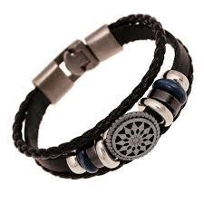bracelet men leather images Fashion jewelry anchor alloy leather bracelet men casual jpg