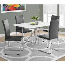 harlow modern gray chrome dining chair eurway