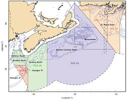 map canada east coast eastern canada sea scallop offshore