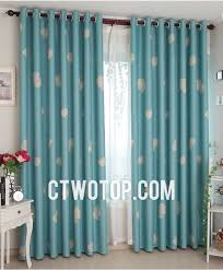 teal shabby chic patterned blackout toile cheap modern curtains
