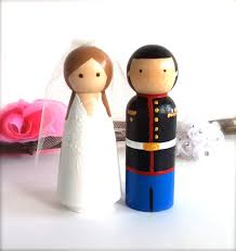 army marines wedding cake topper custom uniform bride and groom