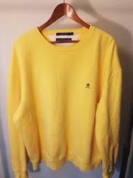 vintage hilfiger sweaters vintage 90 s hilfiger yellow crewneck sweater