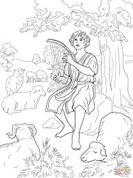david the shepherd coloring page free printable coloring pages
