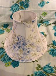 diy shabby chic lamp shades fabric cover with blue and white