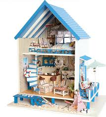 making a house christmas gift diy doll house model building kits wooden miniature