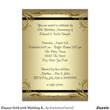 wedding invitation golden wedding anniversary invitations