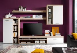 eckregal nussbaumfarben wohnwand sand eiche weiss woody 93 00996 holz modern jetzt