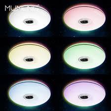 Living Room Bluetooth Speakers Mumeng Led Ceiling Light 32w Living Room Music Lamp Bluetooth