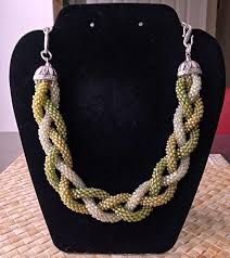 beaded cord necklace images Incredible three strand beaded kumihimo necklace jpg