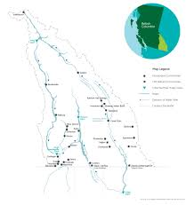 Columbia River Map Columbia Basin Trust Region