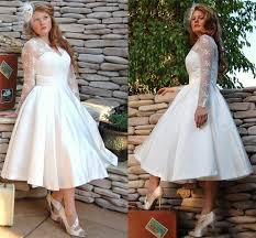 Custom Made Plus Size Vintage Short White Wedding Dresses Gowns