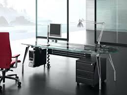 Glass Modern Desk Appealing Remarkable Executive Glass Desks 15 Modern Office Desk
