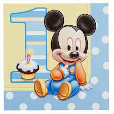 baby mickey 1st birthday disney mickey s 1st birthday lunch napkins birthday lunch
