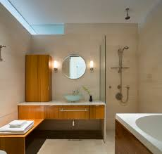 curbless shower pan bathroom modern with apartment clerestory