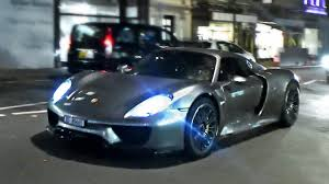Porsche 918 Modified - porsche 918 spyder startup and driving in london youtube