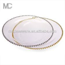 cheap wedding plates cheap wholesale wedding gold silver glass beaded charger plates