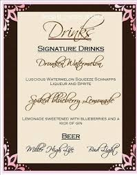 wedding drink menu template all things paper diary of a diy mad