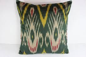Cotton Ikat Pillow Ikat Pillow Cover C103 Ikat Throw Pillows