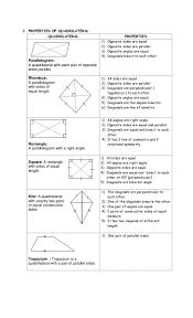 Area Of A Parallelogram Worksheet Quadrilateral