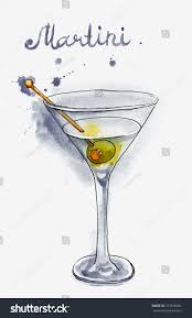 martini olive clipart martini glass green olive isolated on stock illustration 377518081