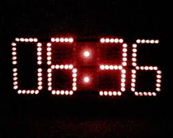 membuat jam digital led besar jam digital microban