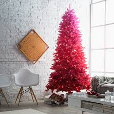 7 5 ft red ombre pre lit christmas tree by sterling tree company