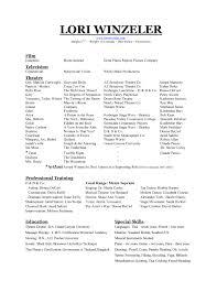 theatrical resume format resume format resume template jospar