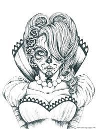 printable coloring pages sugar skulls halloween skull colouring pages printable coloring printable sugar
