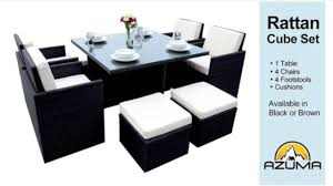 Rattan Patio Furniture Sets by Rattan Cube Garden Furniture Set Youtube