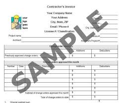construction company invoice examples invoice including