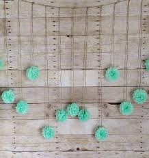 mint green tissue paper seafoam green tissue paper flower wedding garland photography