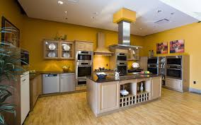 modern kitchen wall colors yellow colored kitchen walls with oak cabinets outofhome