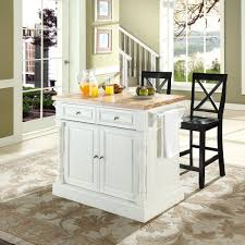 crosley furniture kitchen island crosley furniture kf300063wh oxford butcher block top kitchen island