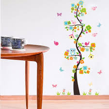 aliexpress com buy new arrival cartoon owl branch wall stickers aliexpress com buy new arrival cartoon owl branch wall stickers children room kindergarten decorative flower wall stickers from reliable branch wall